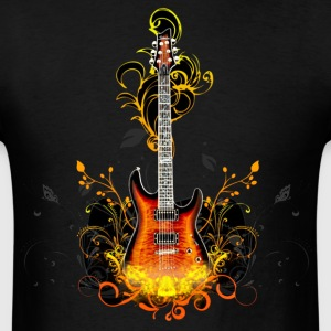 guitar flames - Men's T-Shirt