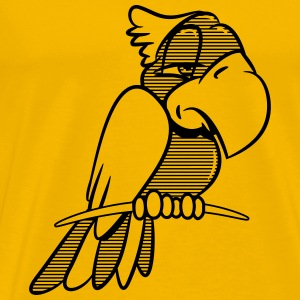 Parrot tired striped T-Shirts - Men's Premium T-Shirt