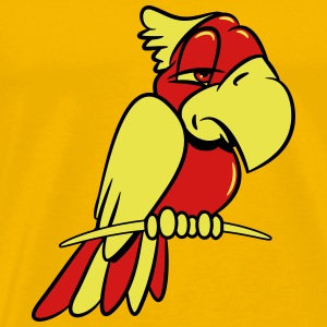 parrot tired T-Shirts - Men's Premium T-Shirt