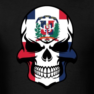 Dominican Flag Skull Dominican Republic Skull - Men's T-Shirt