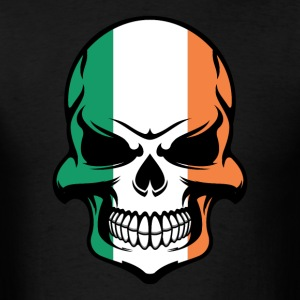 Irish Flag Skull Cool Ireland Skull - Men's T-Shirt