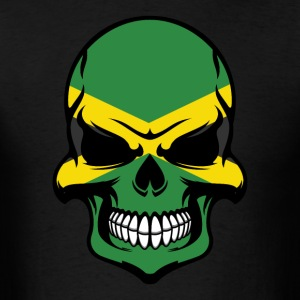 Jamaican Flag Skull Cool Jamaica Skull - Men's T-Shirt