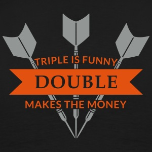 triple is funny ... T-Shirts - Men's Premium T-Shirt