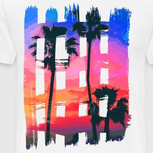 Tropical Brush Strokes - Men's Premium T-Shirt