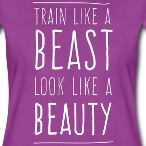 Train like a beast look like a beauty T-Shirts - Women's Premium T-Shirt