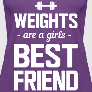 Weights are a girls best friend Tanks - Women's Premium Tank Top