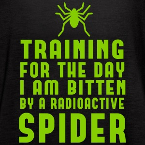 Training for day bitten by radioactive spider Tanks - Women's Flowy Tank Top by Bella
