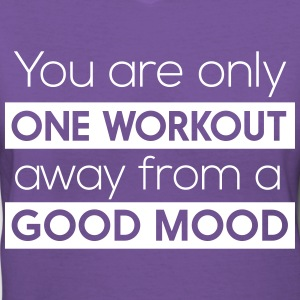 One workout away from a good mood T-Shirts - Women's V-Neck T-Shirt
