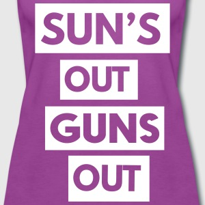 Sun's out guns out Tanks - Women's Premium Tank Top