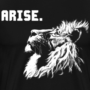 ARISE - Lion Motivation T-Shirts - Men's Premium T-Shirt