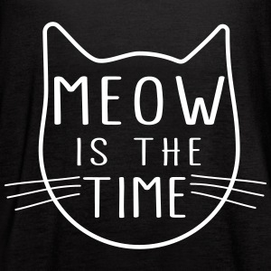 Meow is the time Tanks - Women's Flowy Tank Top by Bella