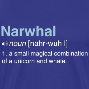 Narwhal. Combo of Unicorn and Whale T-Shirts - Men's Premium T-Shirt