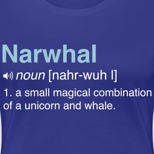 Narwhal. Combo of Unicorn and Whale T-Shirts - Women's Premium T-Shirt