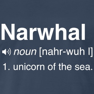 Narwhal. Unicorn of the sea T-Shirts - Men's Premium T-Shirt