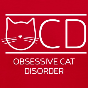 OCD. Obsessive cat disorder T-Shirts - Women's V-Neck T-Shirt