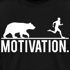 MOTIVATION - Bear Chasing Jogger T-Shirts - Men's Premium T-Shirt