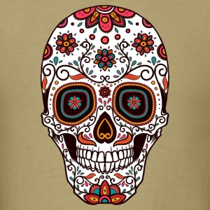 Sugar Skull - Day of the Dead #7 T-Shirts - Men's T-Shirt