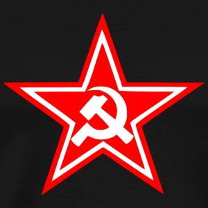 Hammer Sickle Star Flag - Men's Premium T-Shirt
