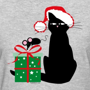 Santa Cat & Mouse T-Shirts - Women's T-Shirt