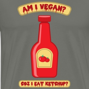 Vegan Ketchup Bottle - Men's Premium T-Shirt