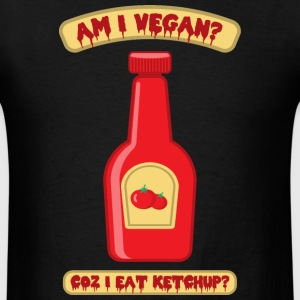 Vegan Ketchup Bottle - Men's T-Shirt