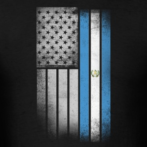 Guatemalan American Flag - Men's T-Shirt