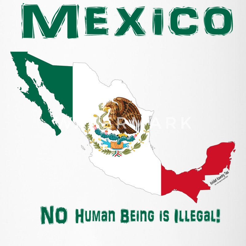 MEXICO:  NO human being is ILLEGAL! Mugs & Drinkware - Travel Mug