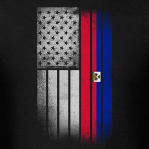 Haitian American Flag - Men's T-Shirt