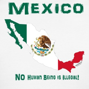MEXICO:  NO human being is ILLEGAL! T-Shirts - Men's Ringer T-Shirt