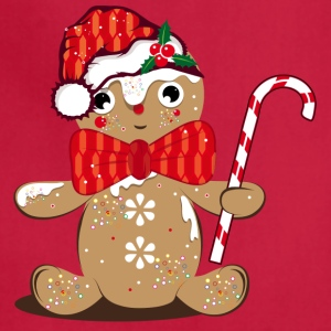 funny gingerbread man with candy cane Aprons - Adjustable Apron