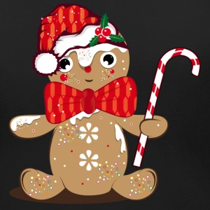 funny gingerbread man with candy cane T-Shirts - Women's Maternity T-Shirt