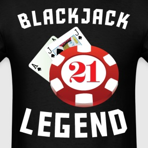 Blackjack Legend Cool Gambling - Men's T-Shirt