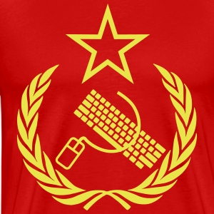 Communist Keyboard & Mouse - Men's Premium T-Shirt