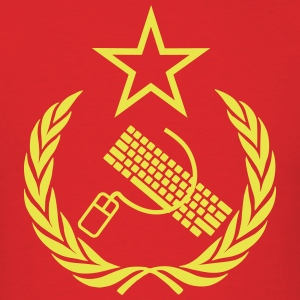 Communist Keyboard & Mouse - Men's T-Shirt