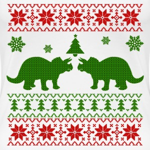 UGLY TRICERATOPS CHRISTMAS,UGLY ,TRICERATOPS ,CHRI - Women's Premium T-Shirt