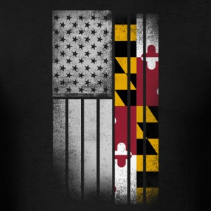 USA Vintage Maryland State Flag - Men's T-Shirt