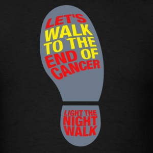 Let's walk to the end of cancer light the night - Men's T-Shirt