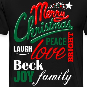 Merry Christmas Laugh Peace Love Bright Joy Beck F T-Shirts - Men's Premium T-Shirt