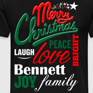 Merry Christmas Laugh Peace Love Bright Joy Bennet T-Shirts - Men's Premium T-Shirt