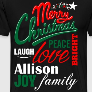 MerMerry Christmas Laugh Peace Love Bright Joy All T-Shirts - Men's Premium T-Shirt
