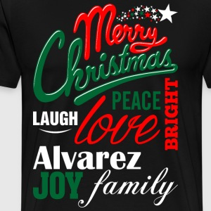 Merry Christmas Laugh Peace Love Bright Joy Alvare T-Shirts - Men's Premium T-Shirt
