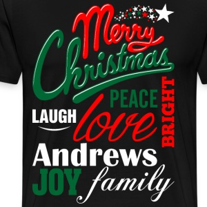 Merry Christmas Laugh Peace Love Bright Joy Andrew T-Shirts - Men's Premium T-Shirt