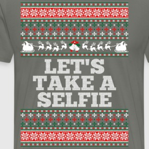 Lets Take A Selfie Ugly Christmas Sweater T-Shirts - Men's Premium T-Shirt