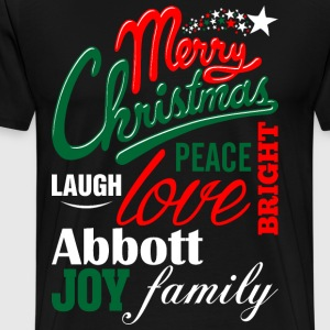 Merry Christmas Laugh Peace Love Bright Joy Abbott T-Shirts - Men's Premium T-Shirt