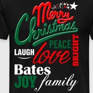 Merry Christmas Laugh Peace Love Bright Joy Bates  T-Shirts - Men's Premium T-Shirt