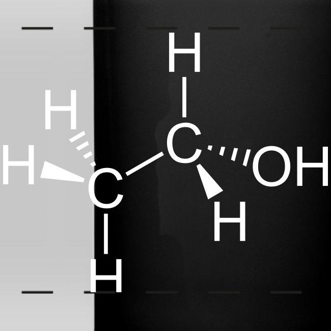 Moleculestore Ethanol Alcohol Molecule Full Color Panoramic Mug