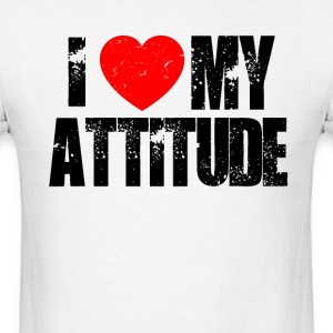 I Love My Atittude.  - Men's T-Shirt