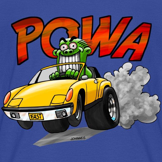 POWA + Kid's Name on the back