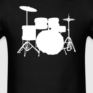 Drum Set Silhouette Cool Rock Music - Men's T-Shirt