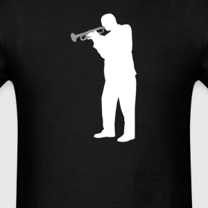 Trumpet Player Silhouette Cool Music - Men's T-Shirt